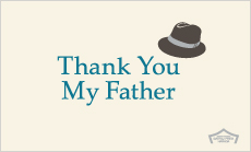 THANKS FATHER'S DAY メッセージカード